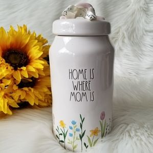 RAE DUNN HOME IS WHERE MOM IS CANISTER